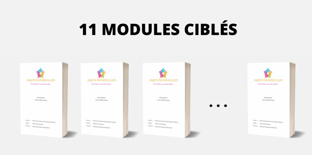11 MODULES CIBLÉS