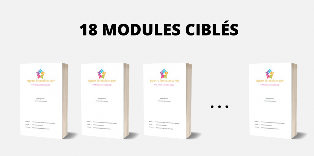 18 MODULES CIBLÉS