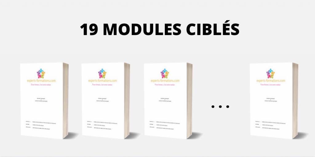 19 MODULES CIBLÉS