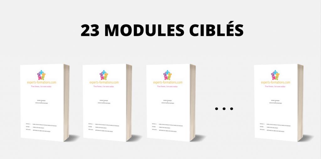 23 MODULES CIBLÉS