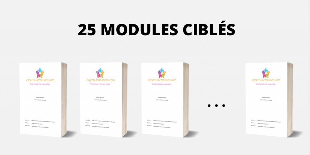 25 MODULES CIBLÉS
